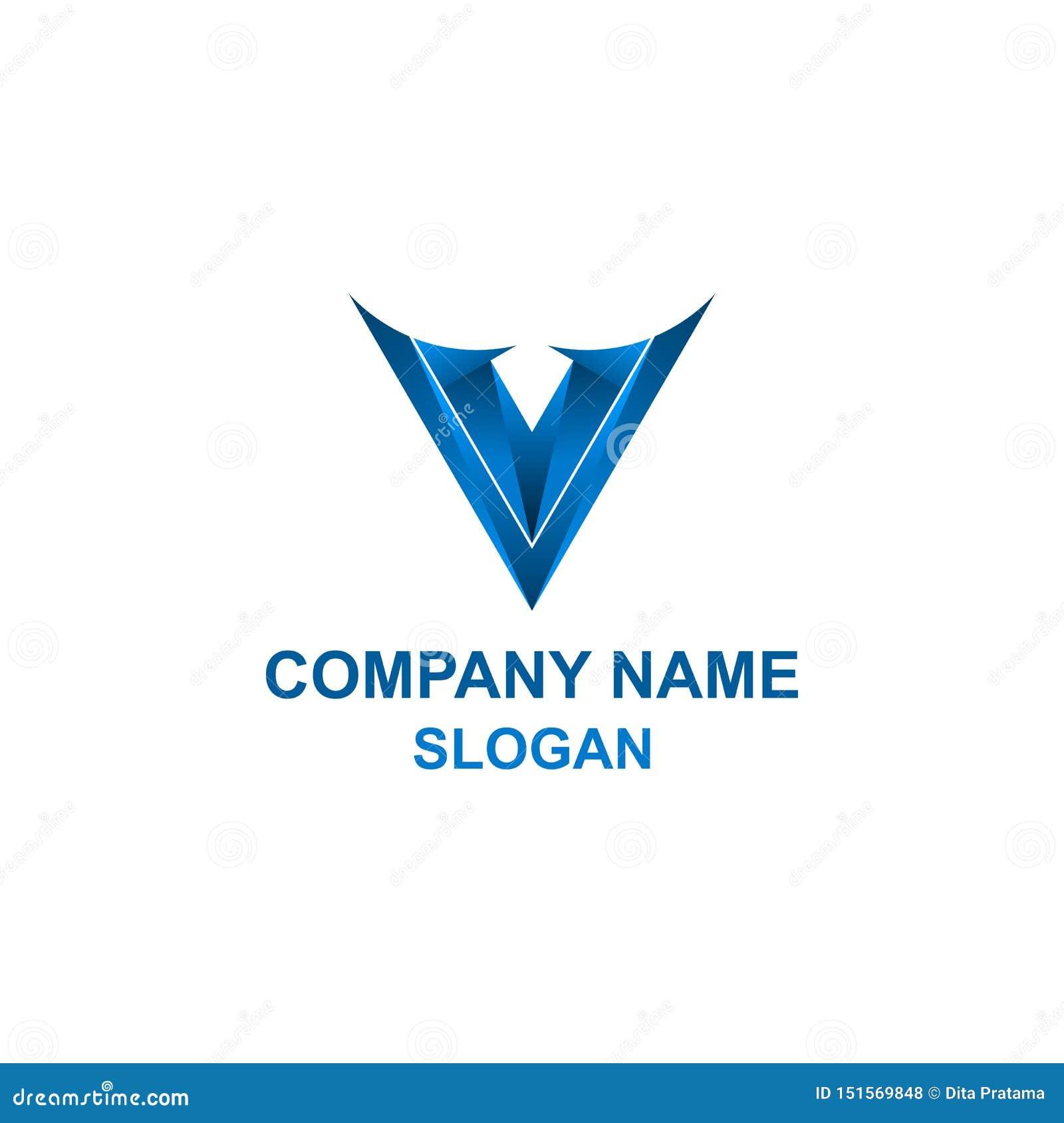 Logotipo da inicial da letra v