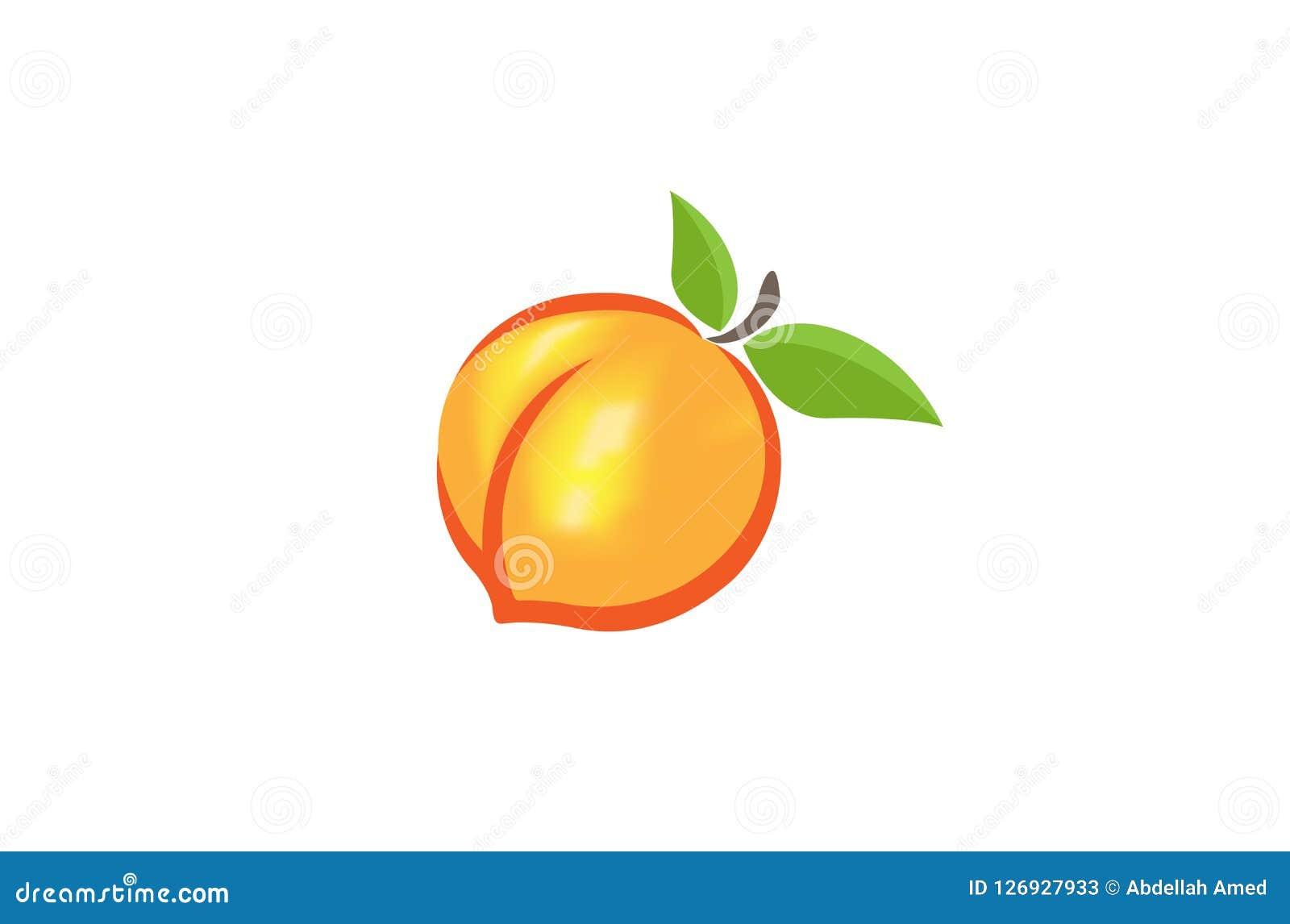 Logotipo da laranja do pêssego