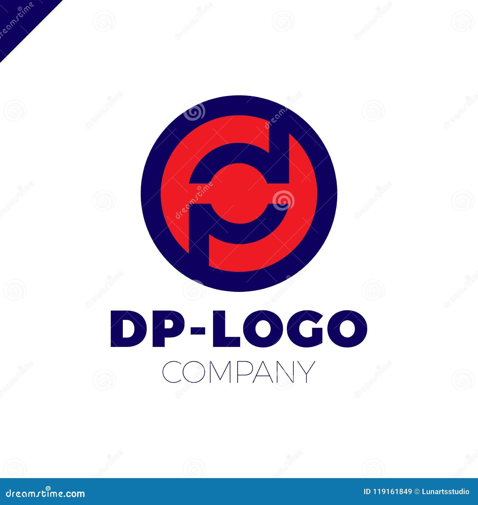 eacb78ce1 Logotipo Da Letra D E Da Letra P Paládio