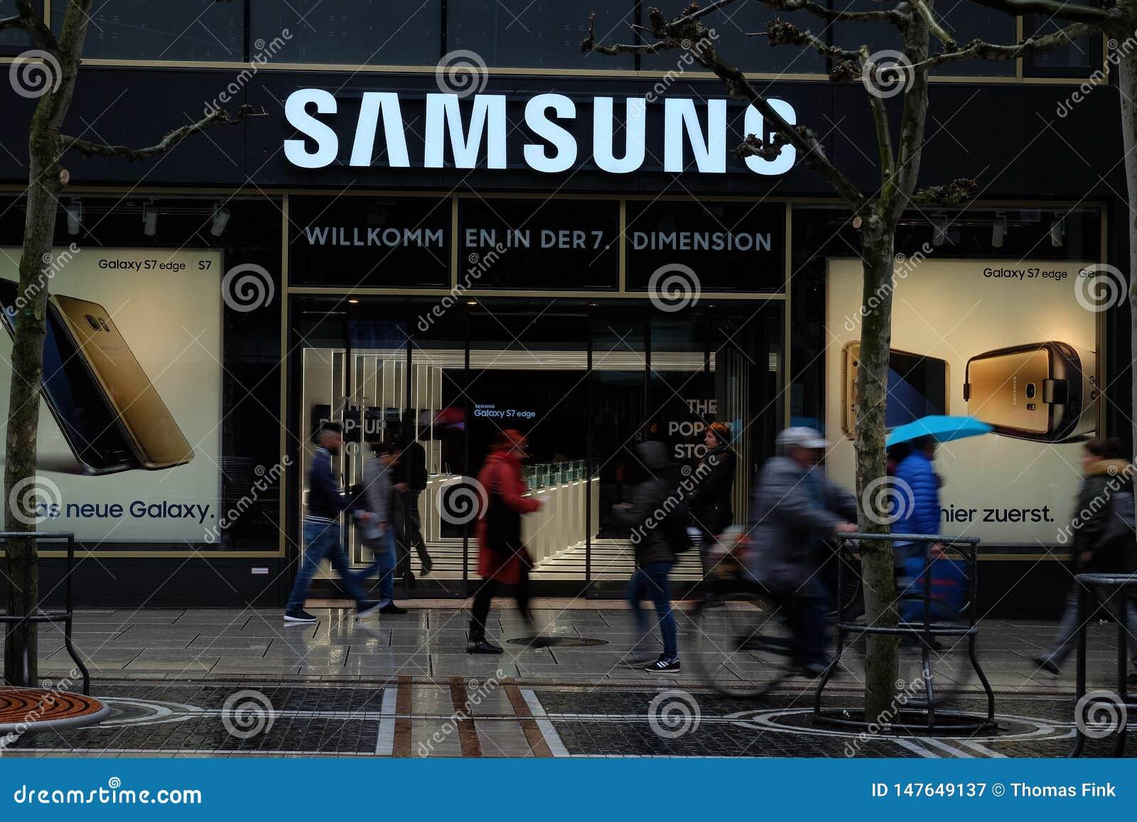 Logotipo da loja de Samsung em Francoforte