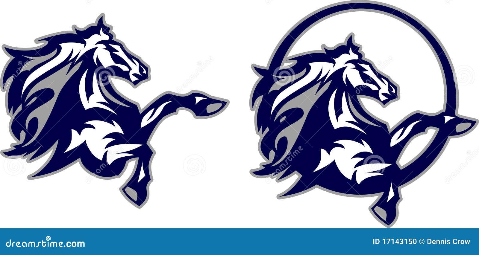 Logotipo Da Mascote Do Cavalo Mustang Bronco Ilustra 231 227 O Do