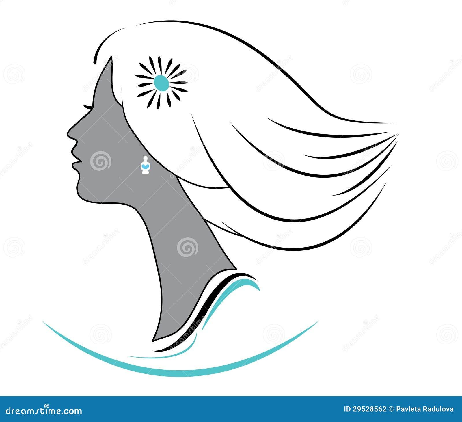 Logotipo da menina do vetor