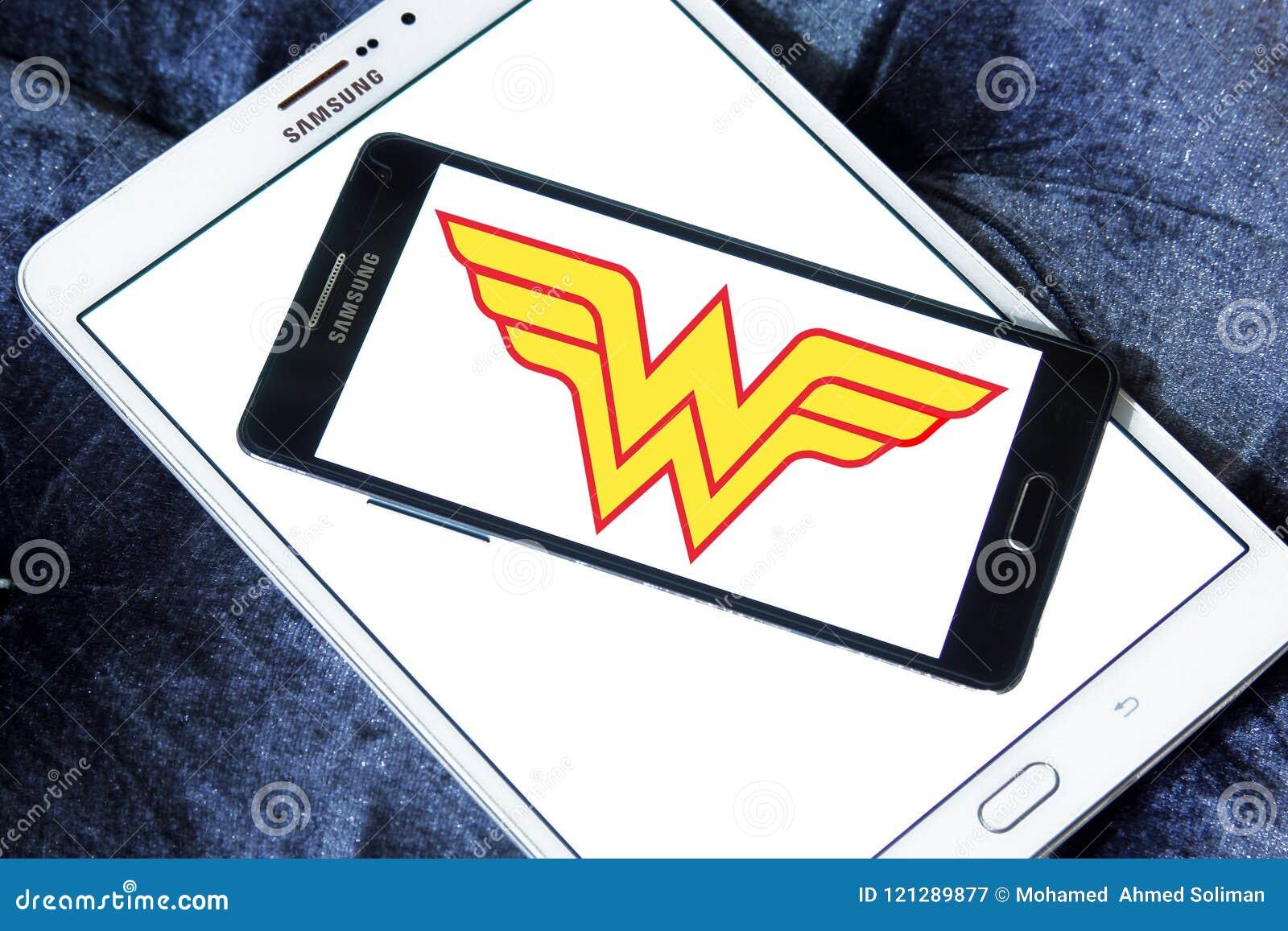 Logotipo Da Mulher Maravilha Fotografia Editorial Imagem De