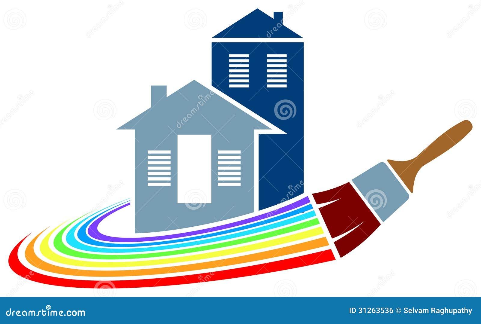 Logotipo da pintura de casa