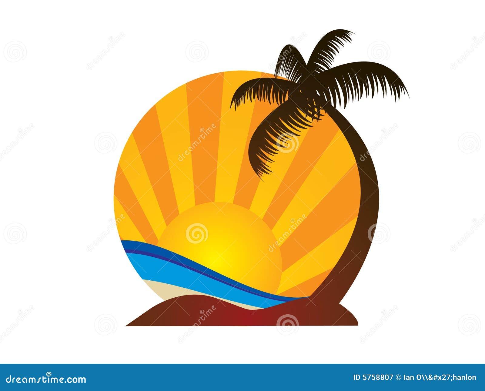Logotipo da praia ilustração do vetor. Ilustração de logo
