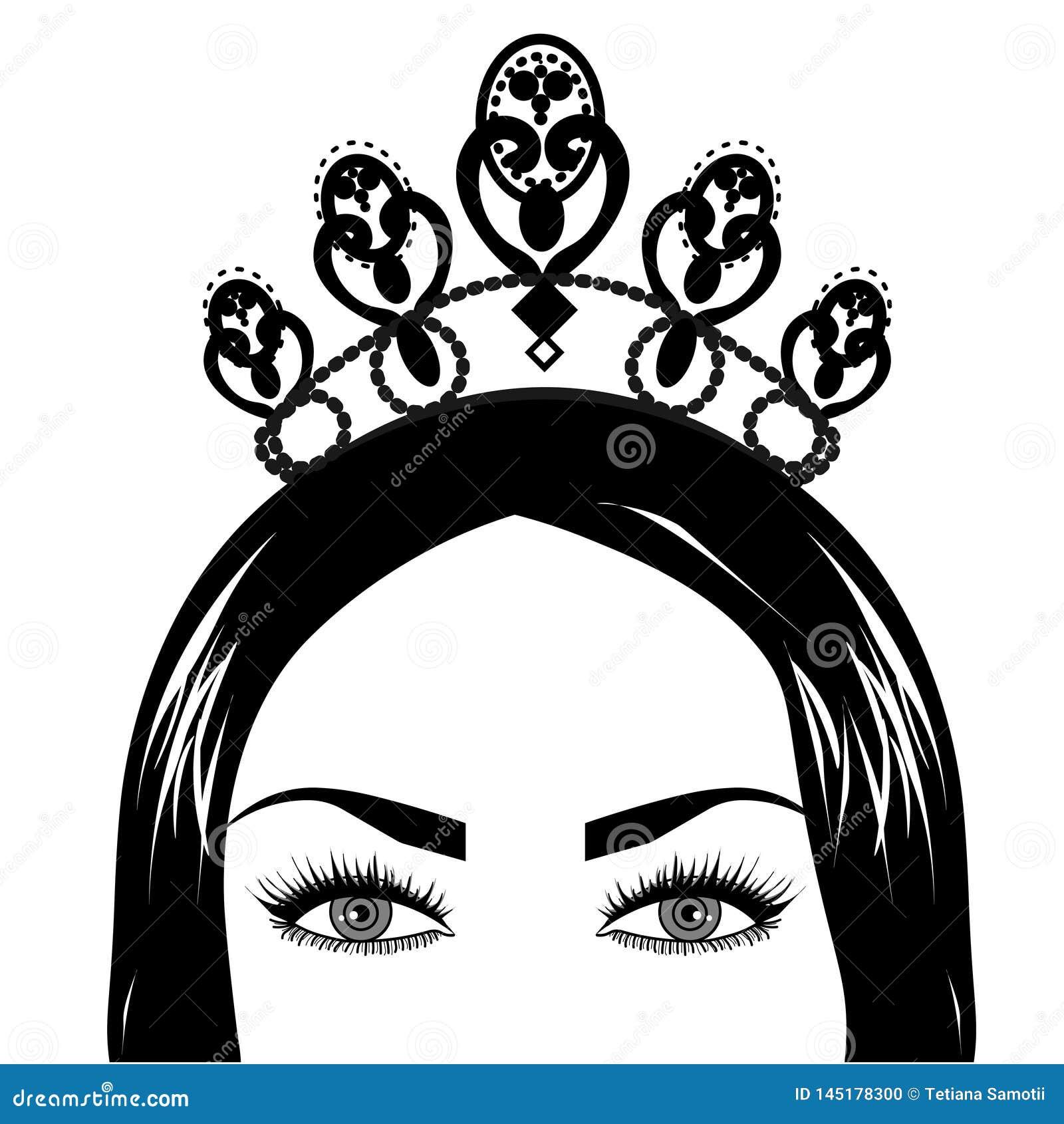 Logotipo da rainha e da coroa da Web