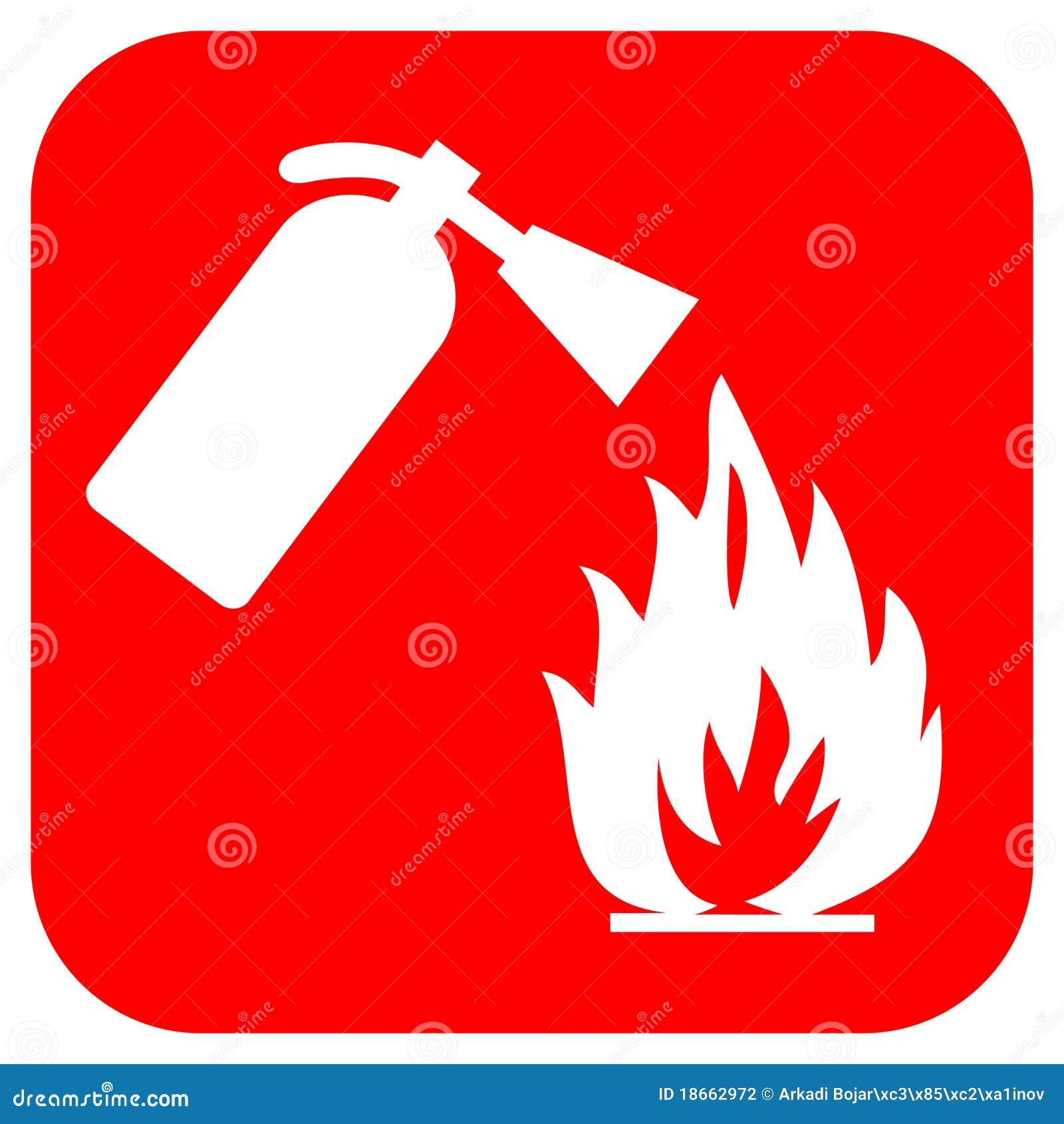 Logotipo da segurança do incêndio