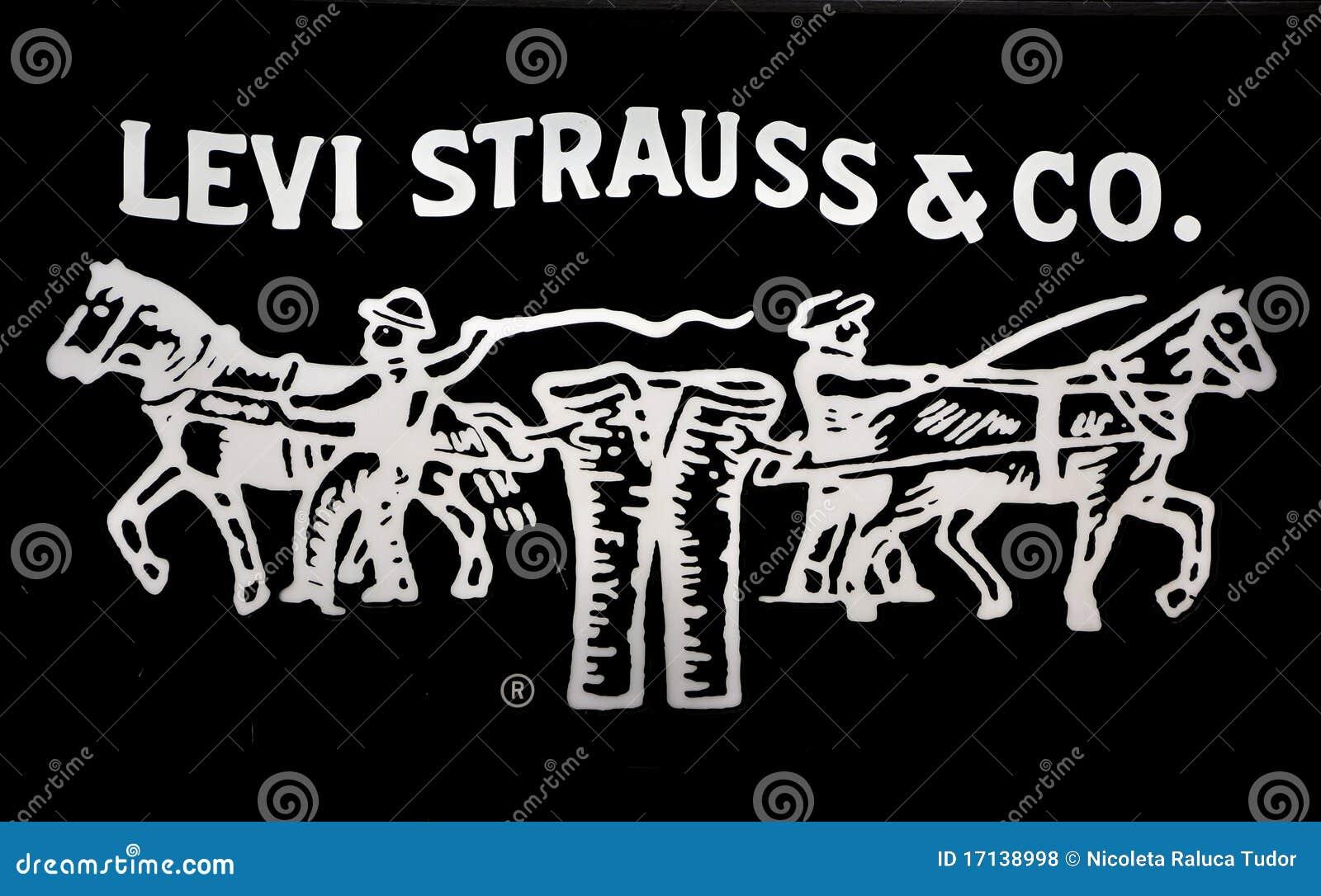 Logotipo das calças de brim dos strauss de Levi