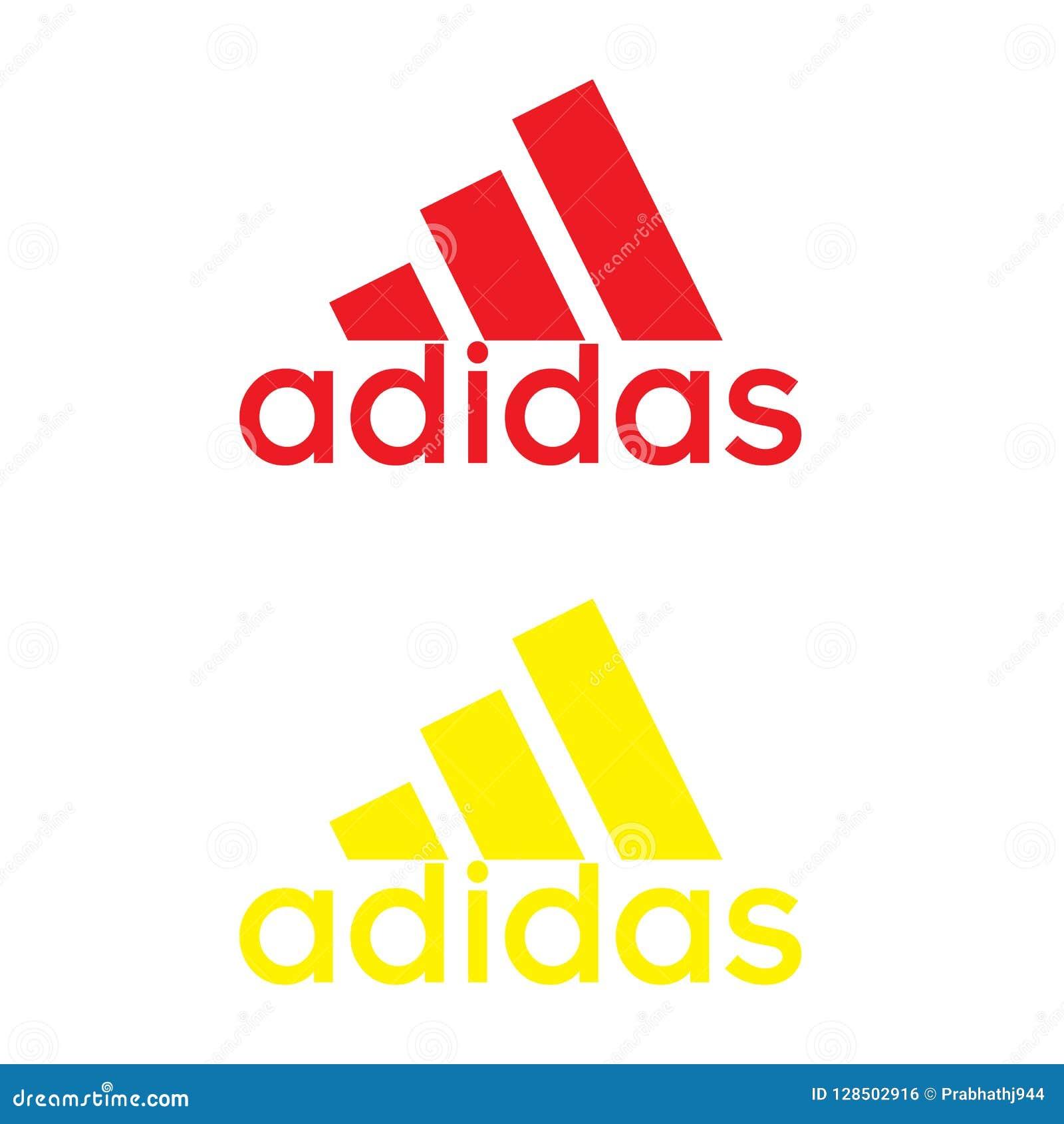bisonte creer pintor  Logotipo De Adidas En El Fondo Blanco Foto editorial - Ilustración de  logotipo, blanco: 128502916