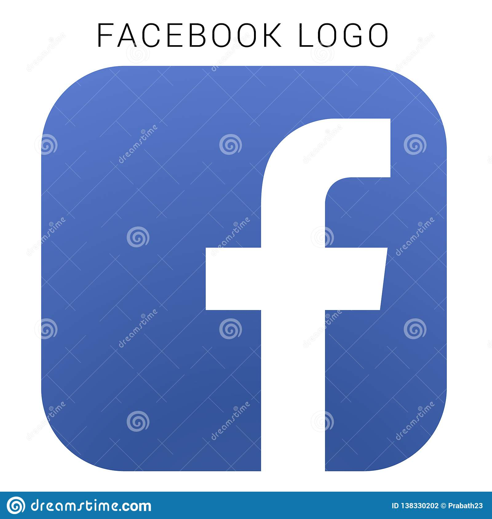 Logotipo de Facebook con el fichero del Ai del vector Ajustado coloreado