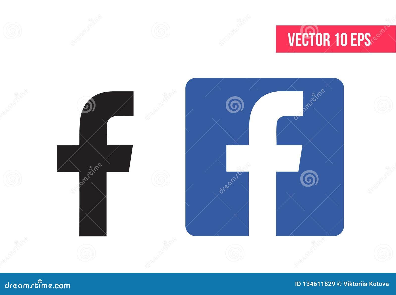 Logotipo de Facebook Ilustración del vector Icono de Facebook - vector