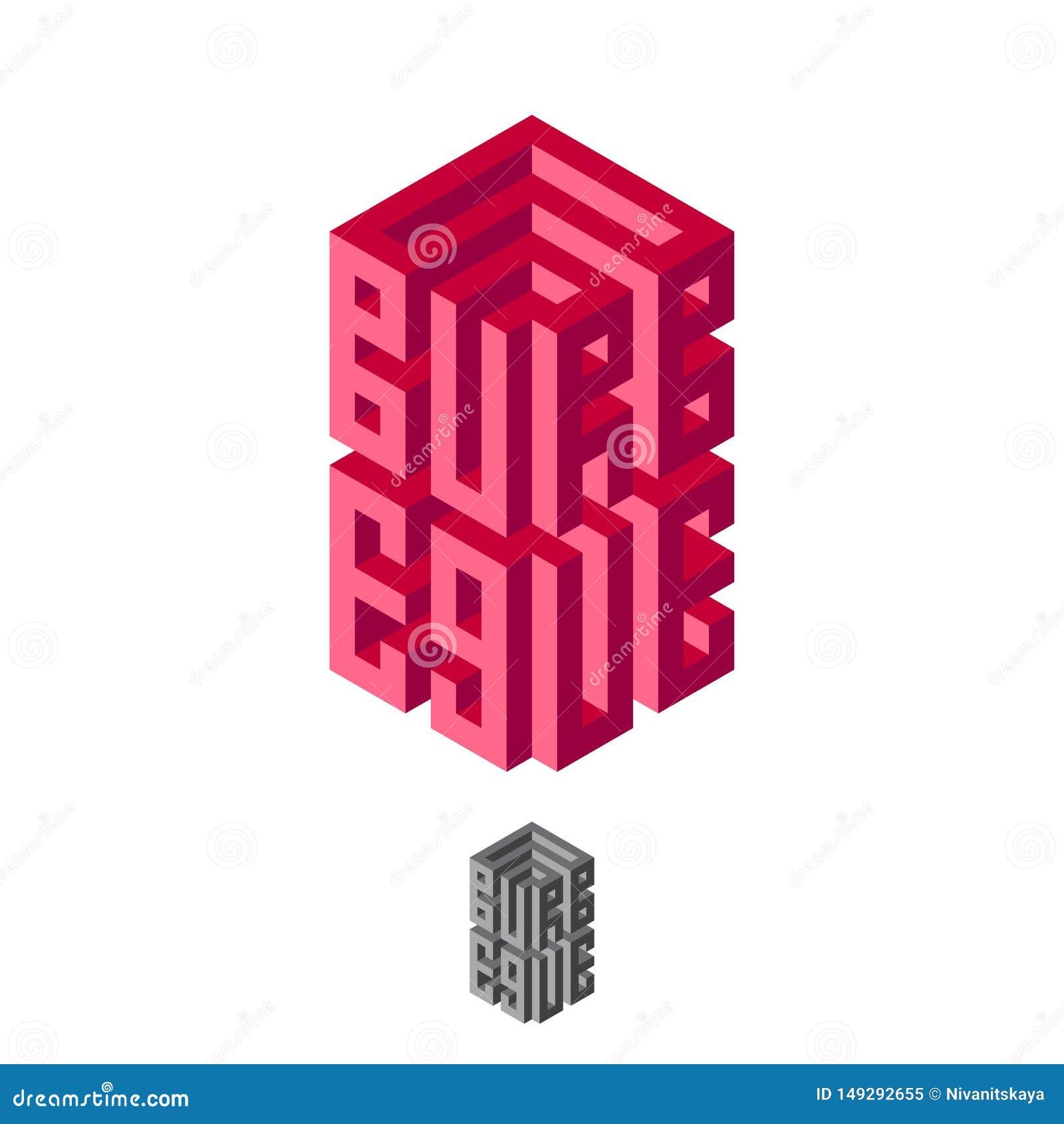 Logotipo de la barbacoa Composición tipográfica del volumen ejemplo de imitación 3D Impresi?n para la camiseta