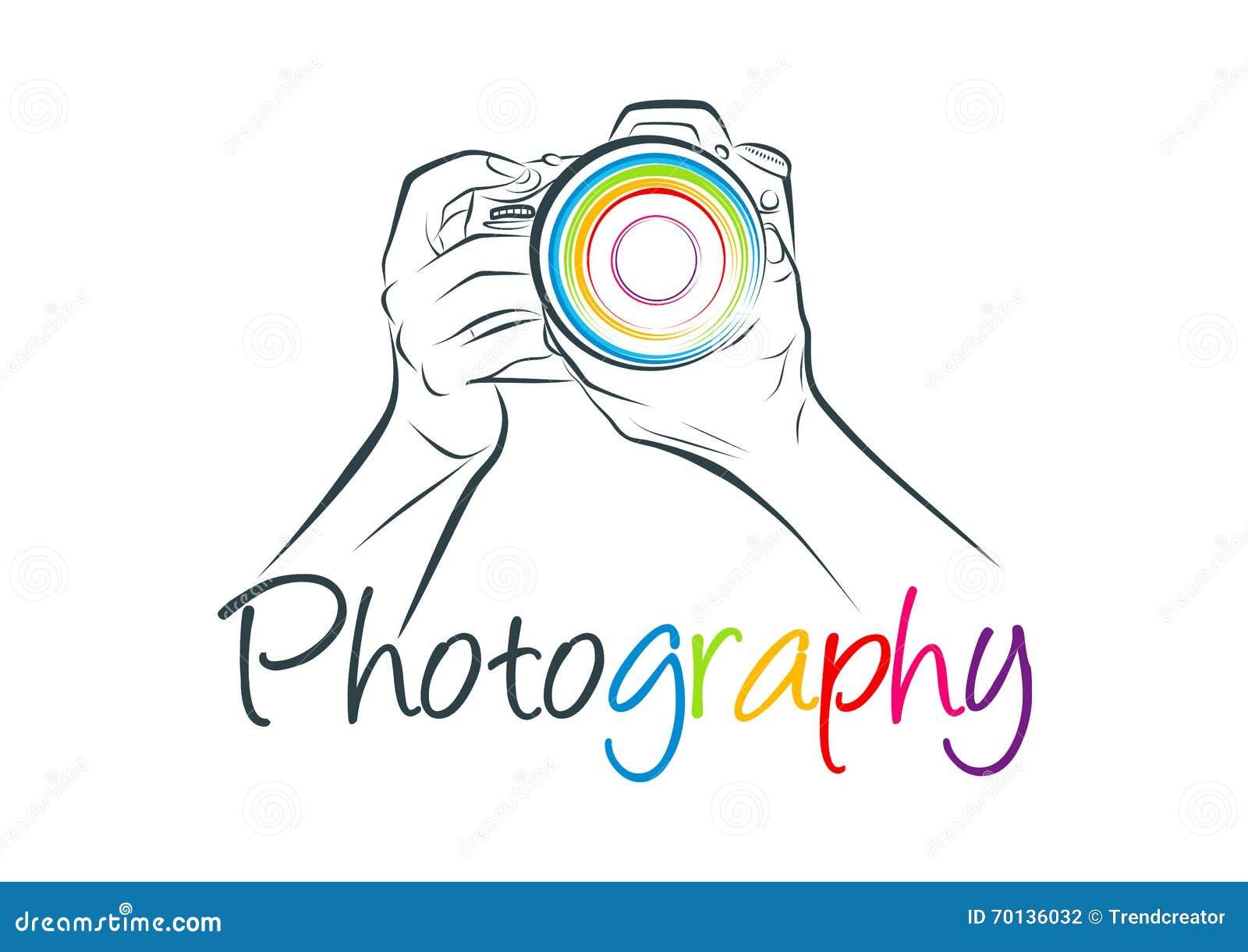 Logotipo de la cámara, diseño de concepto de la fotografía