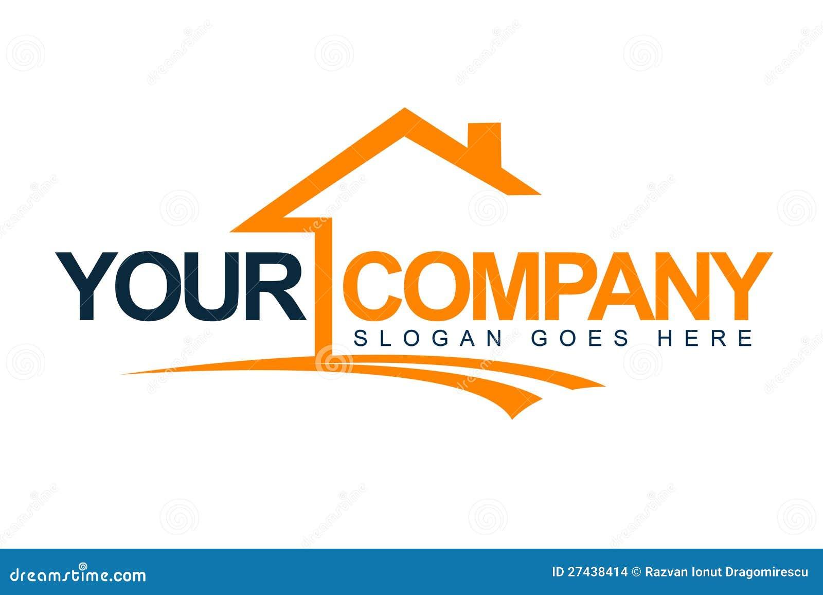 Logotipo de la casa de las propiedades inmobiliarias