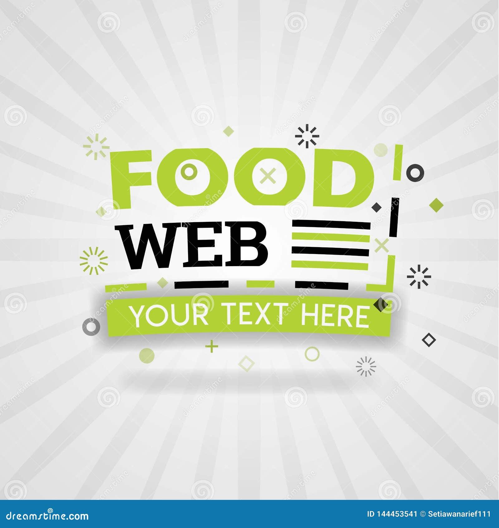Logotipo de la comida de la web y página web de la bandera para las recetas libro de cocina de la comida de las comidas y la comi