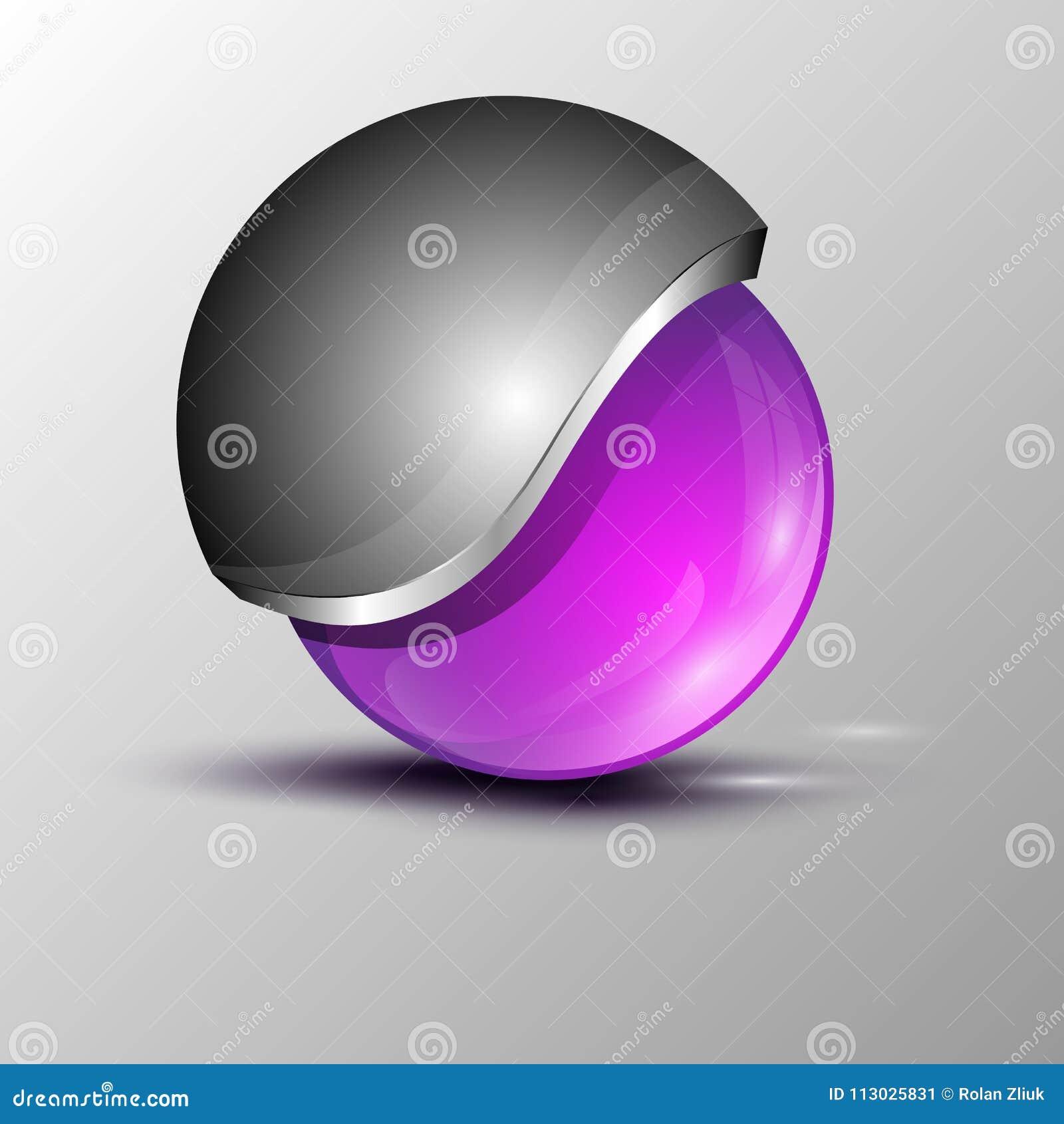 Logotipo de la esfera del círculo de Putple