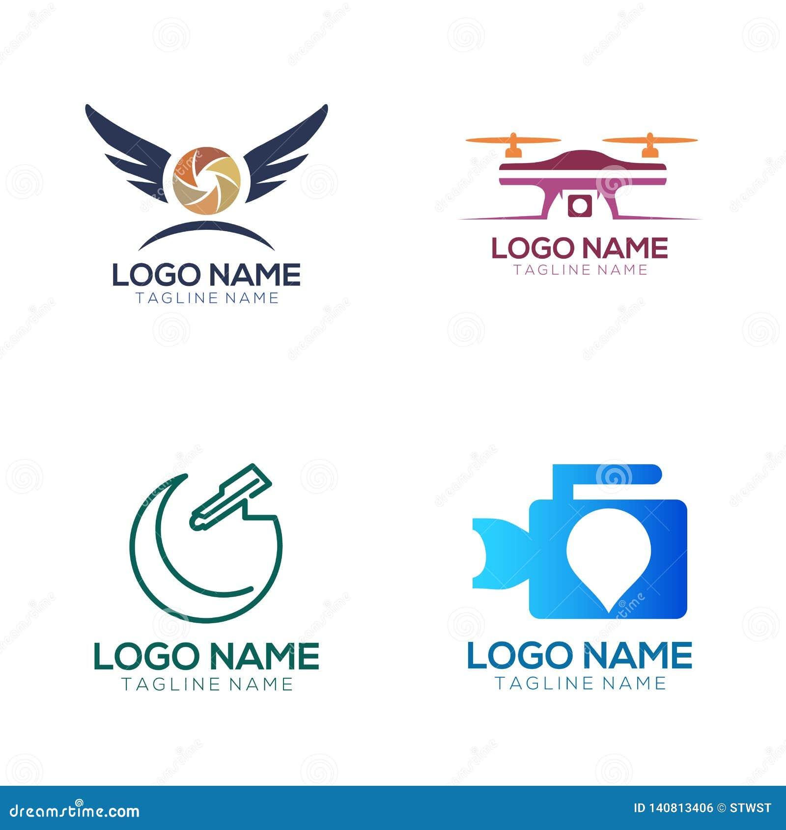 Logotipo de la fotografía y diseño del icono