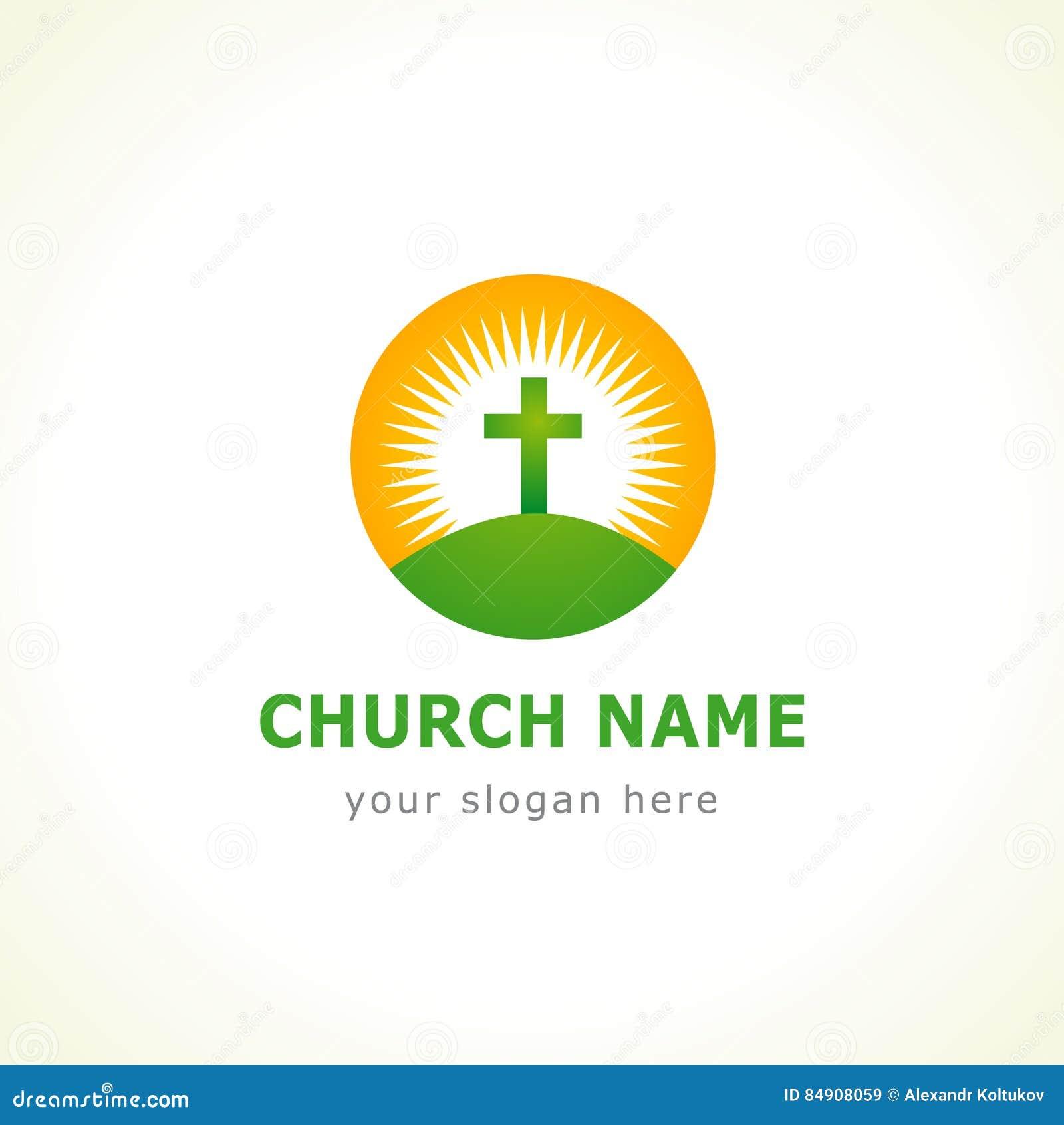 Logotipo de la iglesia de la cruz de Calvary