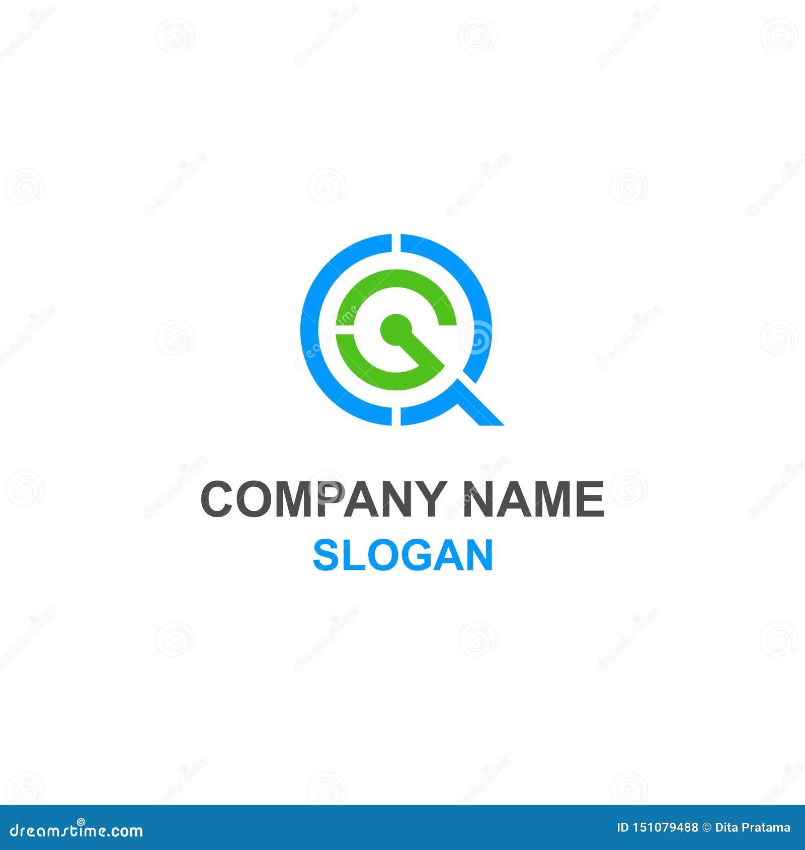 Logotipo de la inicial de la letra de QG