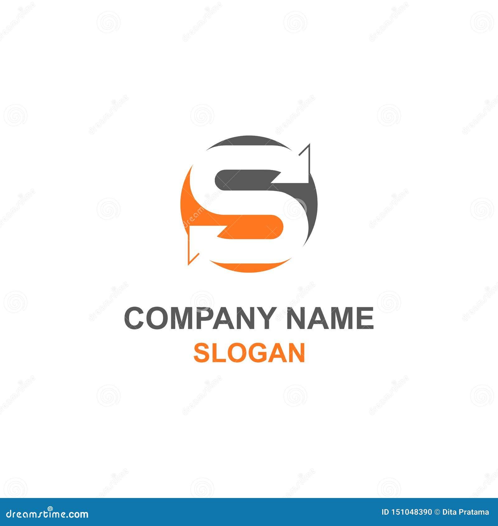 Logotipo de la inicial de la letra de S