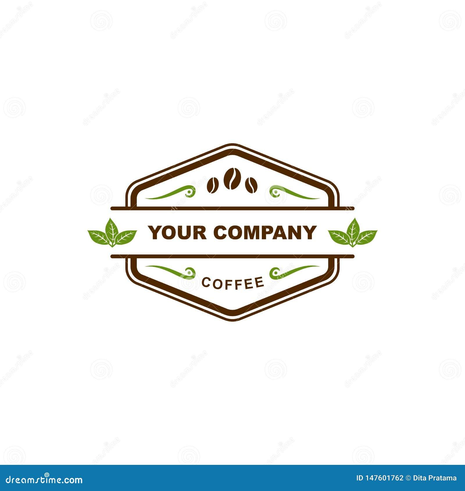 Logotipo de la insignia de la cafetería