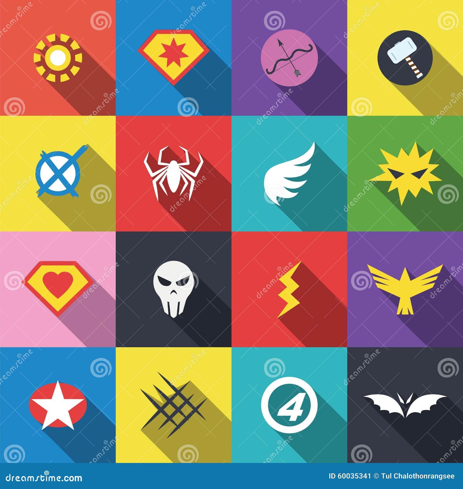 Logotipo de la insignia del super héroe