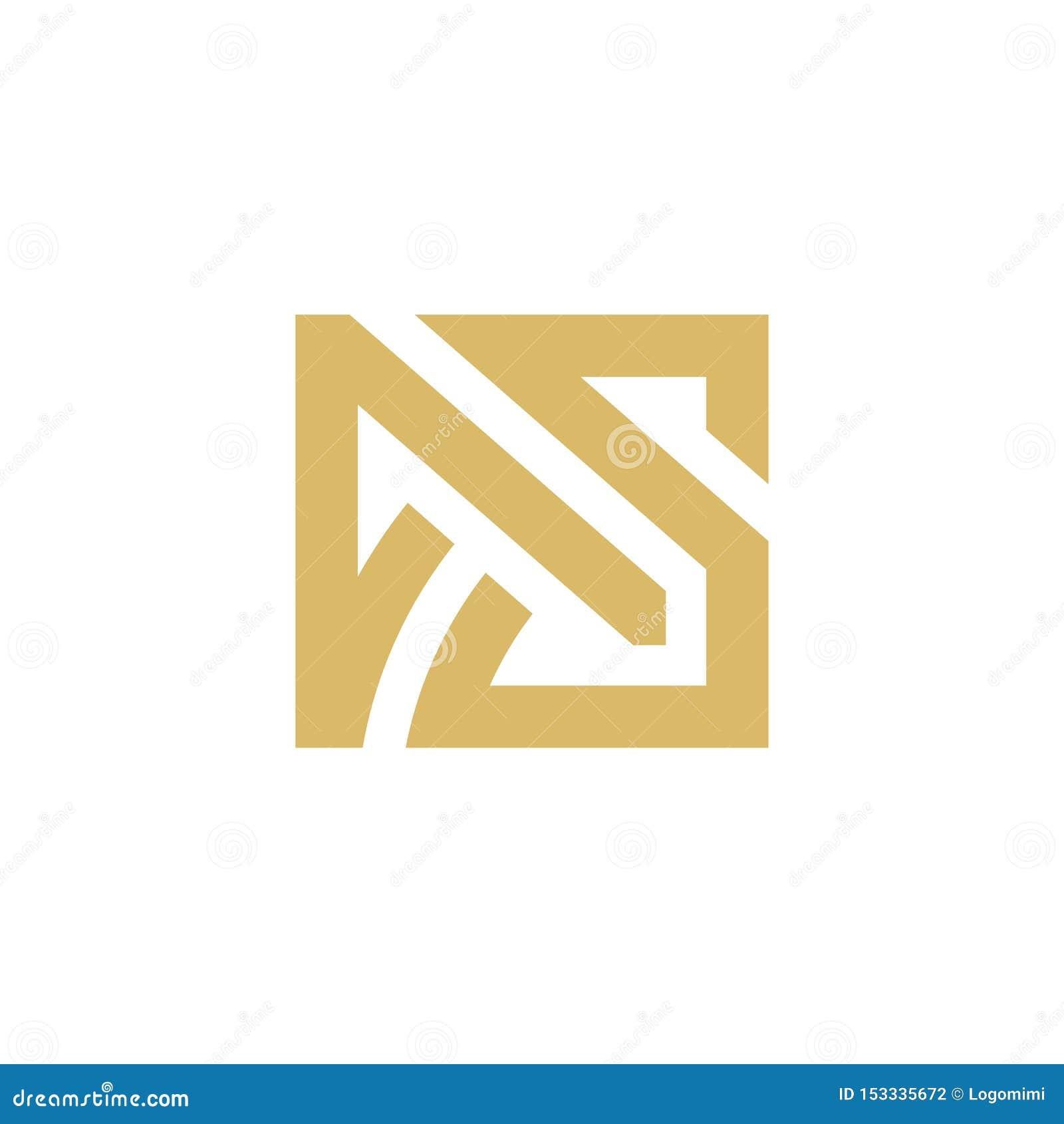 Logotipo de la letra inicial COMO, monograma abstracto Logo Icon, línea minimalista Art Square Design - vector