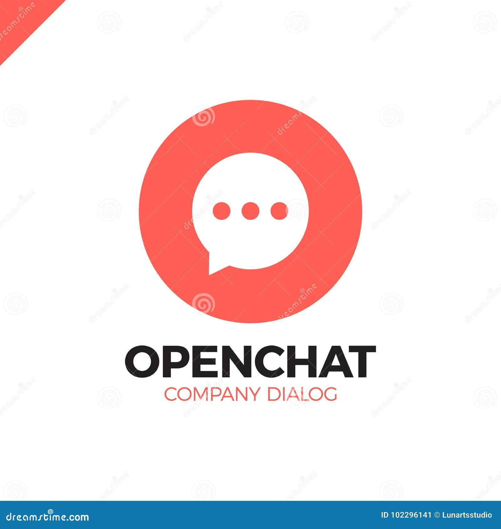 Logotipo de la letra de O, icono negativo del vector del volumen del espacio de la burbuja del discurso
