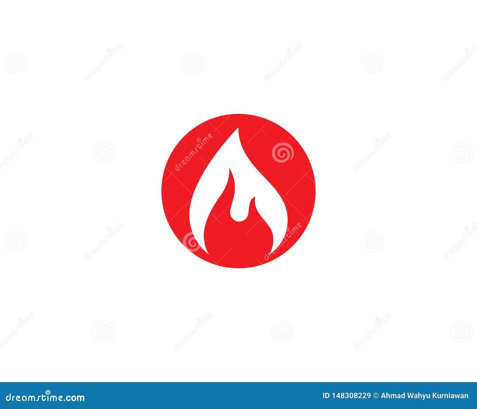 Logotipo de la llama del fuego