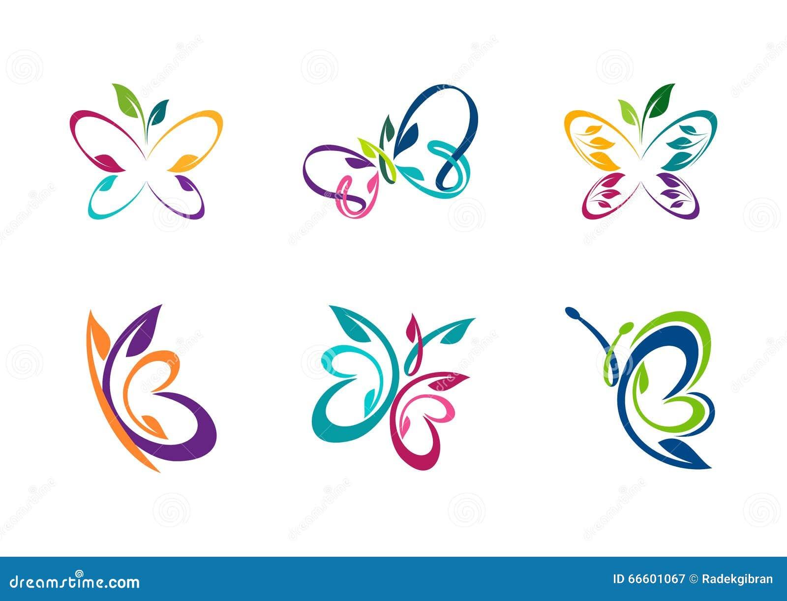 Logotipo de la mariposa, concepto abstracto de la mariposa
