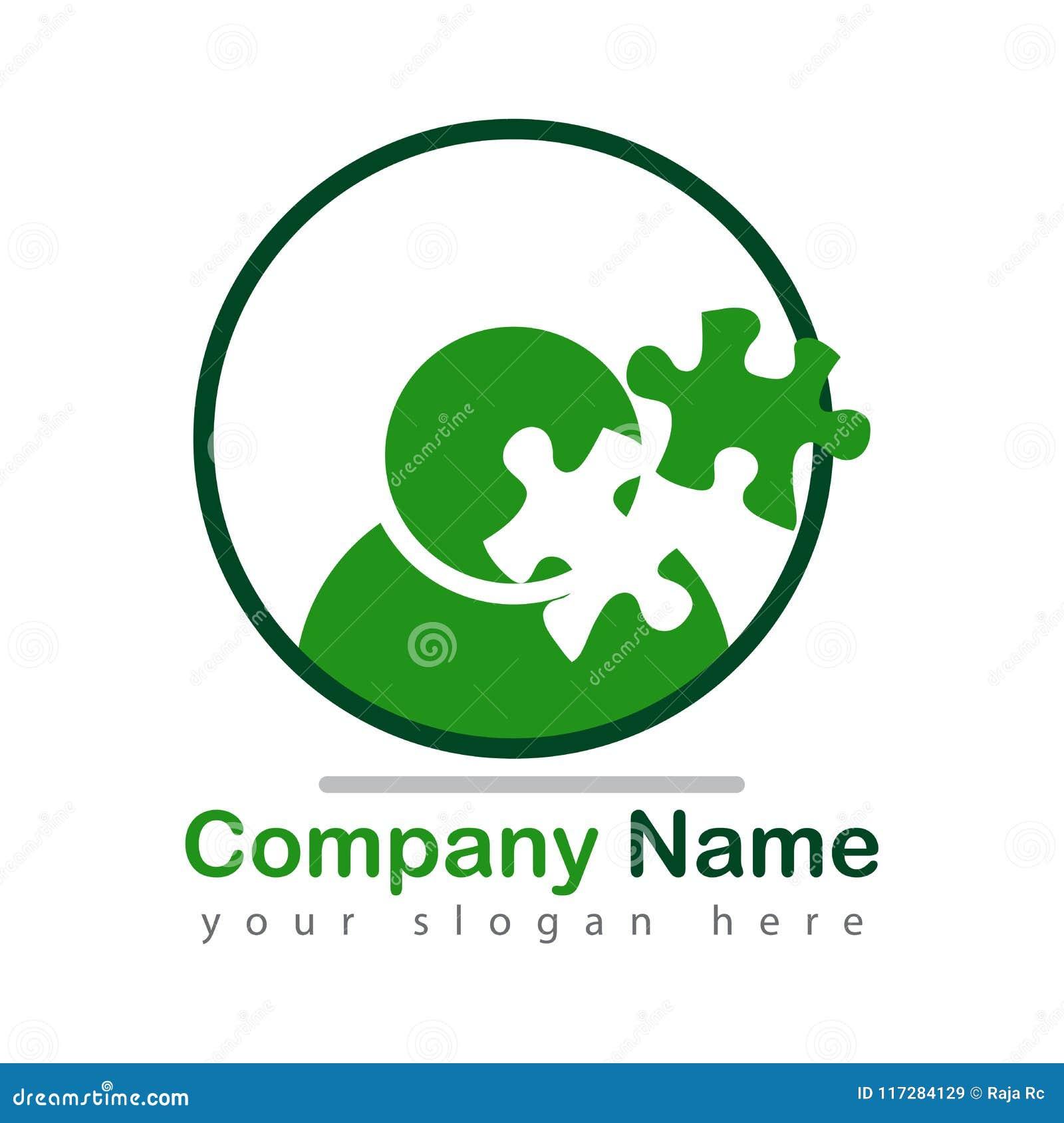 Logotipo de la mente del rompecabezas en blanco