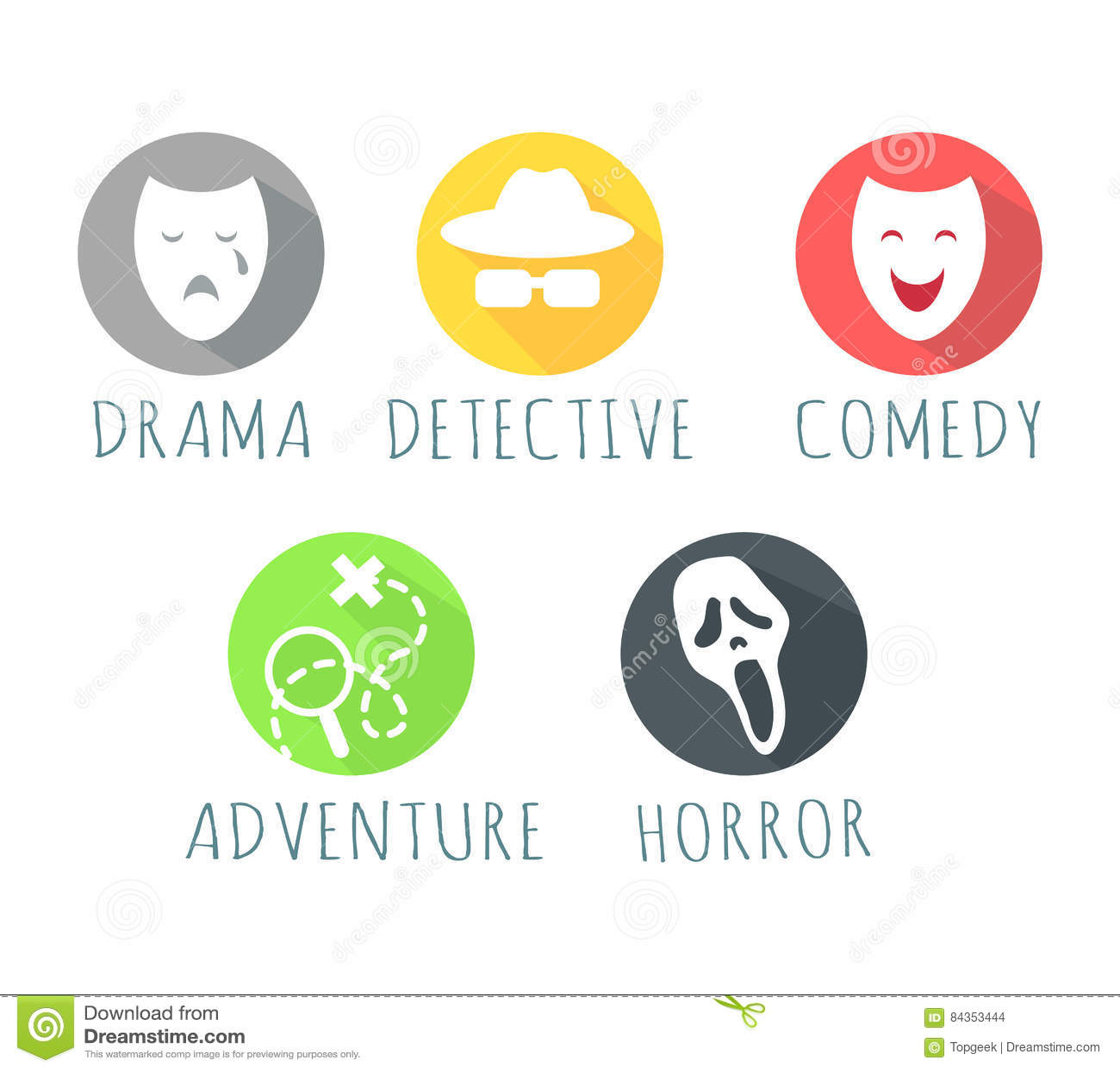 Logotipo de la película de Comedy Adventure Horror del detective del drama