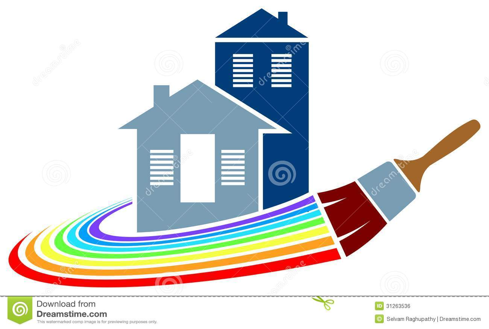 Logotipo De La Pintura De Casa Ilustraci N Del Vector
