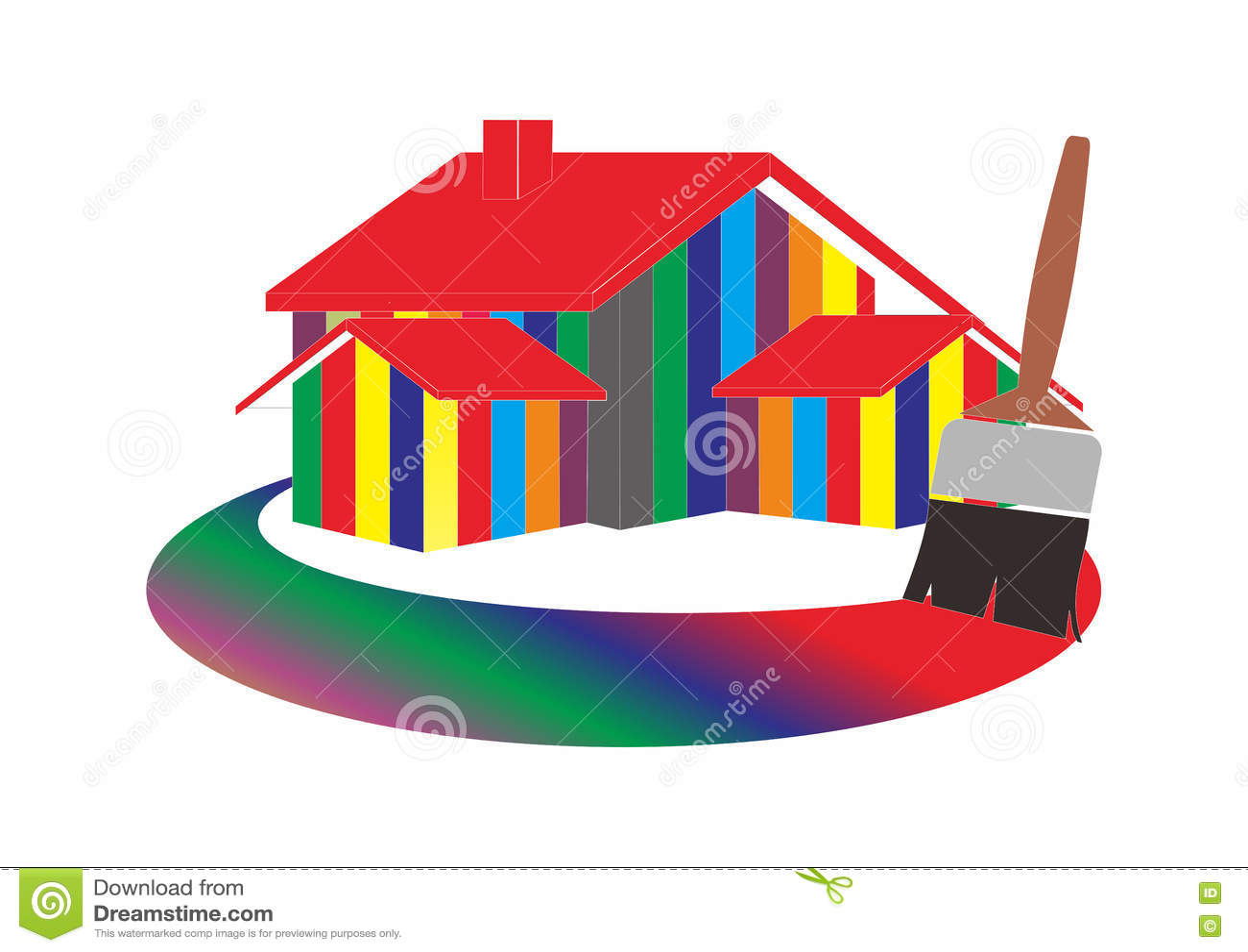 Logotipo de la pintura de casa ilustraci n del vector for La casa de las pinturas