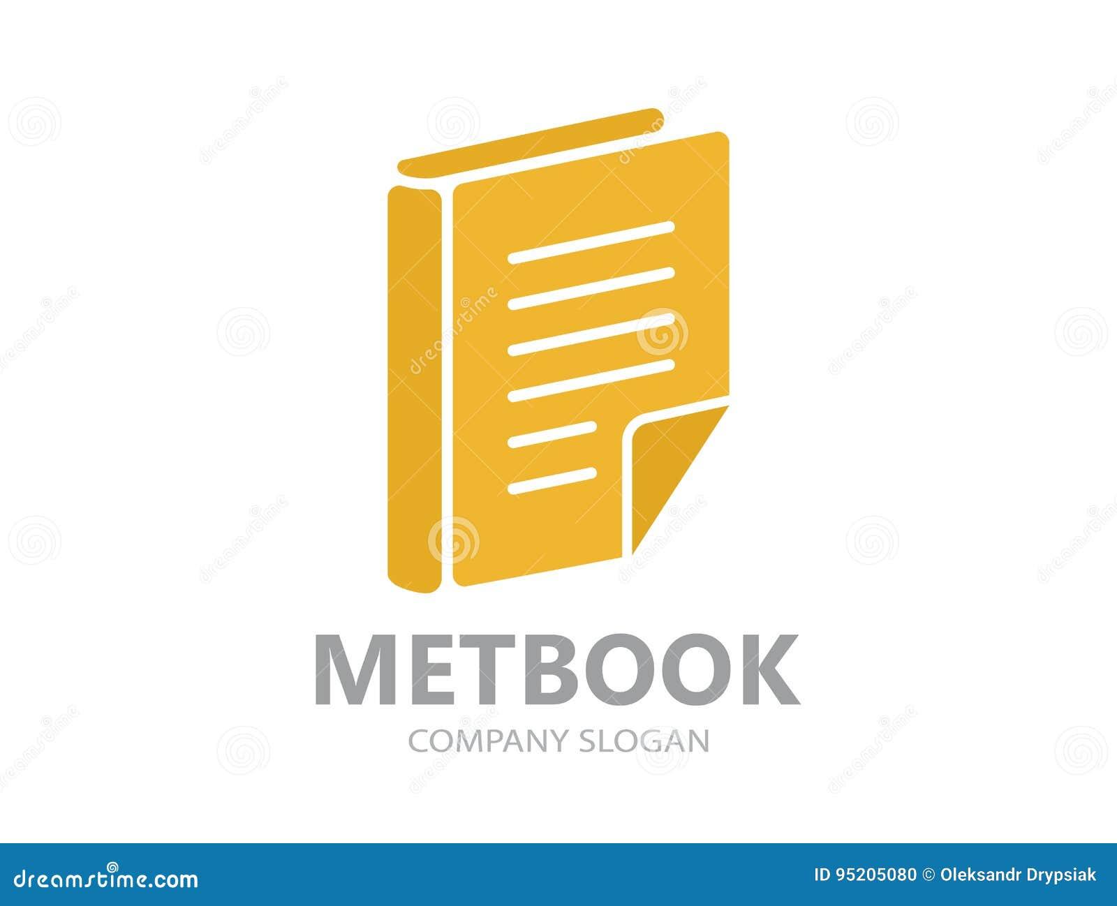 Logotipo De La Plantilla Para La Biblioteca O La Librería Stock de ...