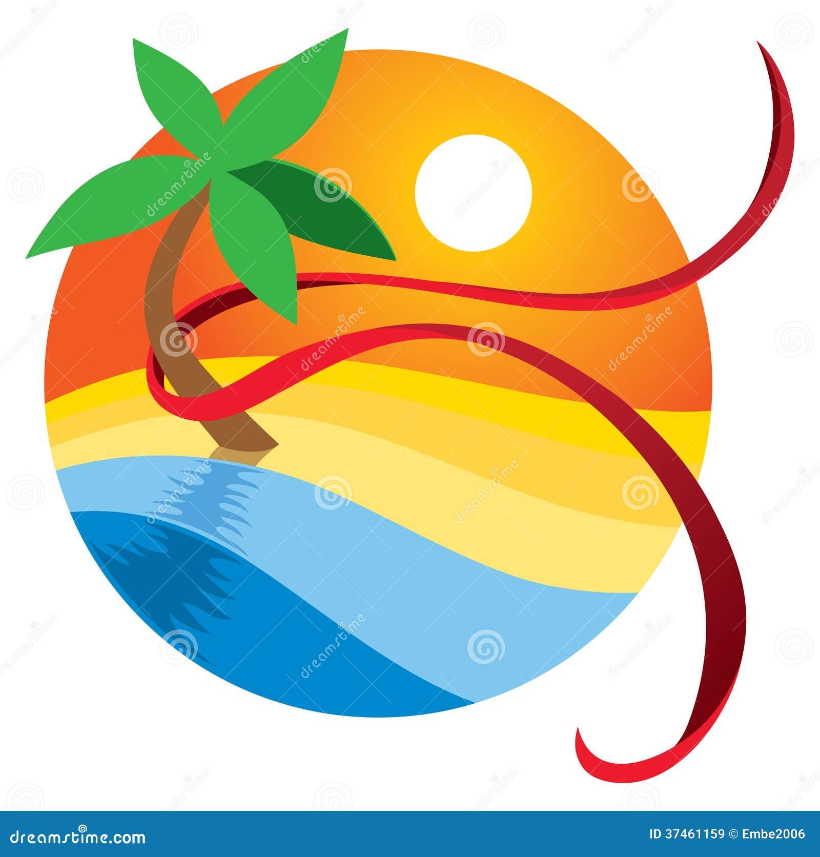 Logotipo de la playa del paraíso