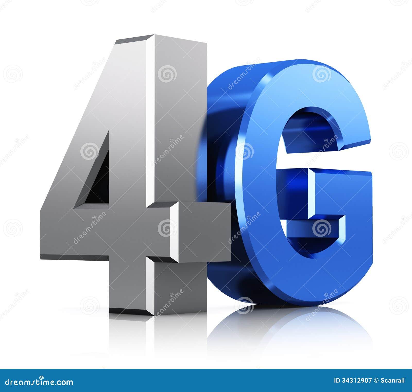 Logotipo de la tecnología inalámbrica de 4G LTE