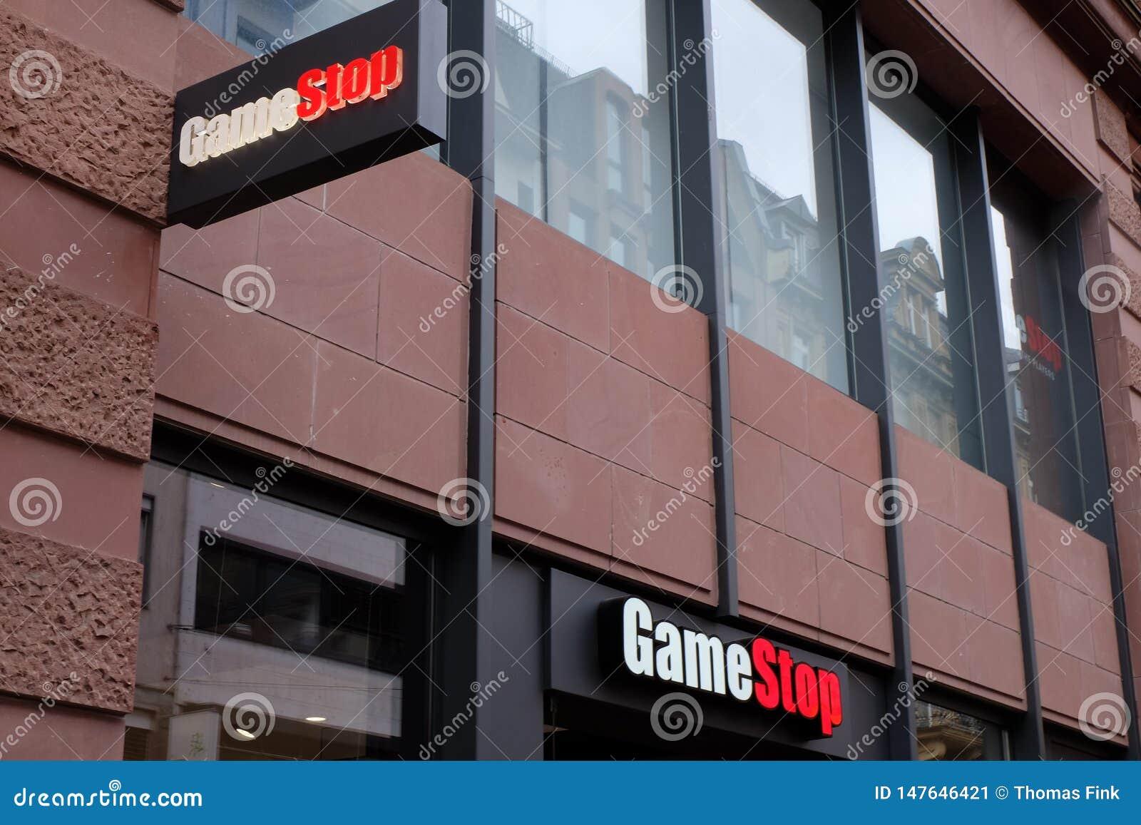 Logotipo de la tienda de GameStop en Francfort