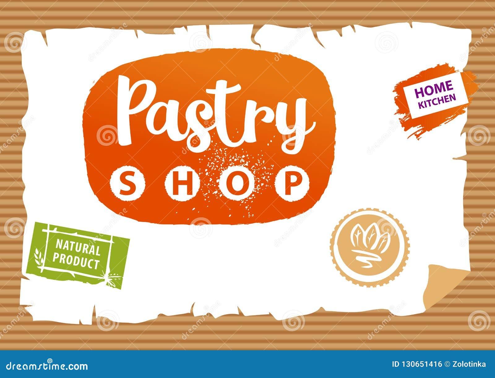 Logotipo de la tienda de pasteles Sello del diseño del elemento para el producto natural Concentrado