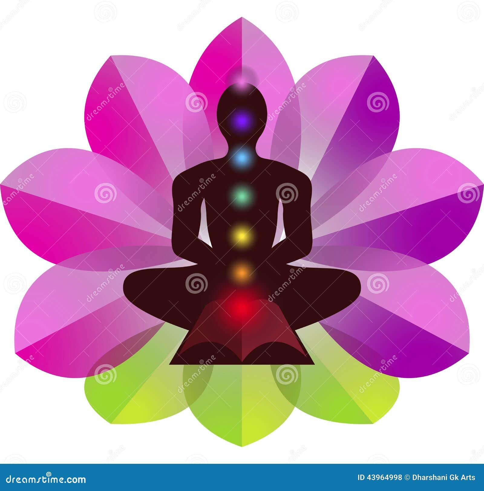 Logotipo de la yoga de Lotus