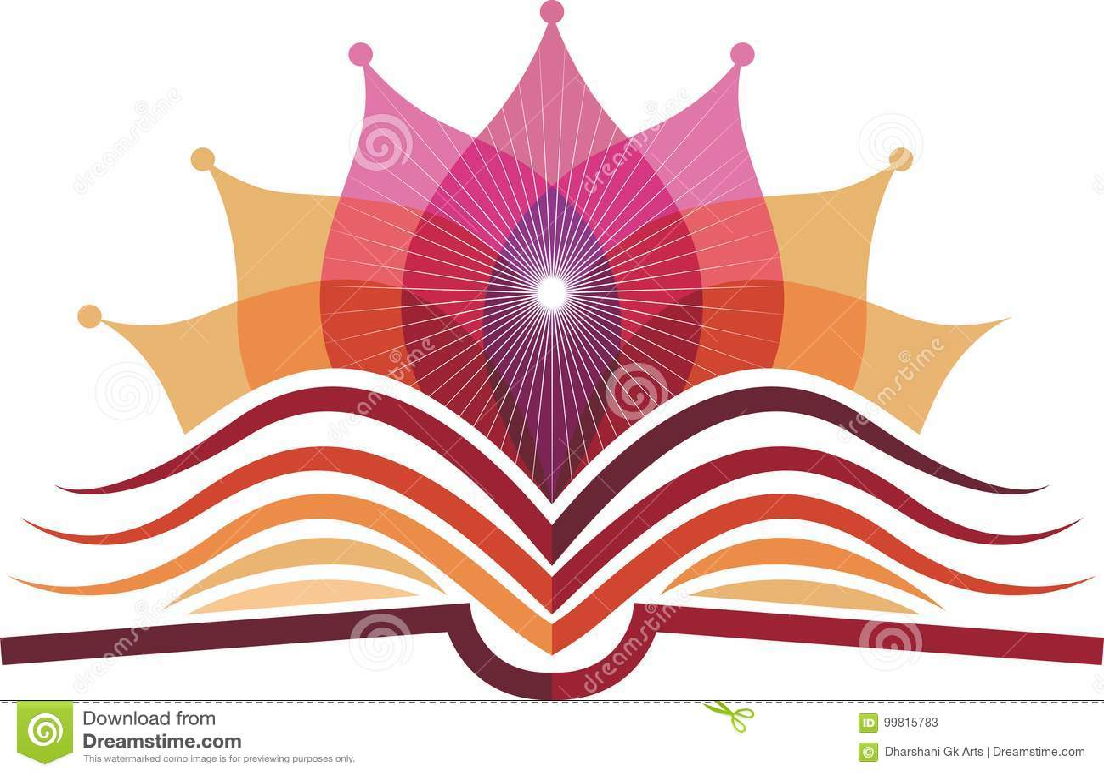 Logotipo de la yoga del libro