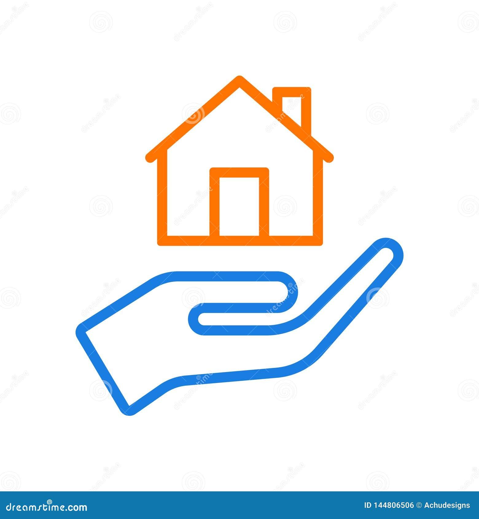 Logotipo de los cuidados en casa de la mano