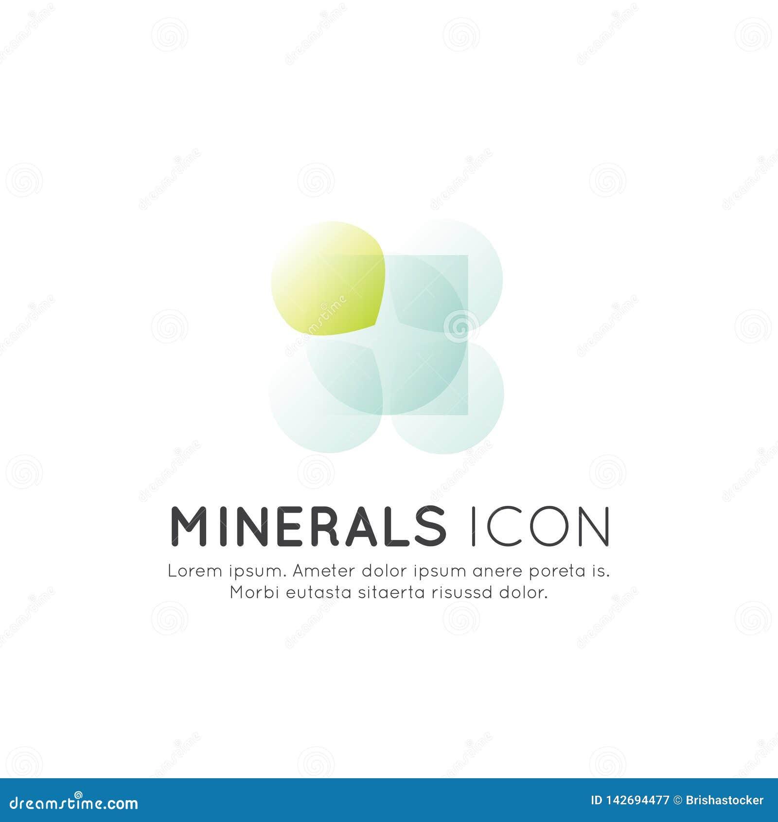 Logotipo de suplementos, ingredientes e vitaminas e elementos ao alimento para as bio etiquetas do pacote, projeto de produtos sa