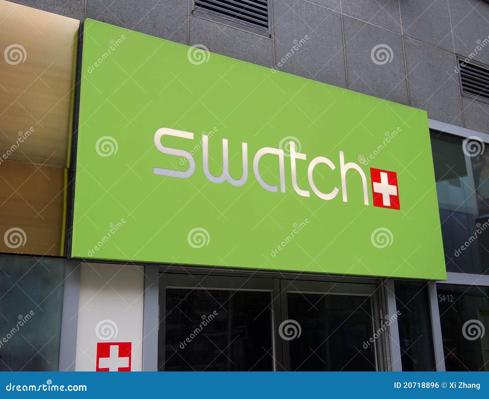 Logotipo de Swatch en la pared