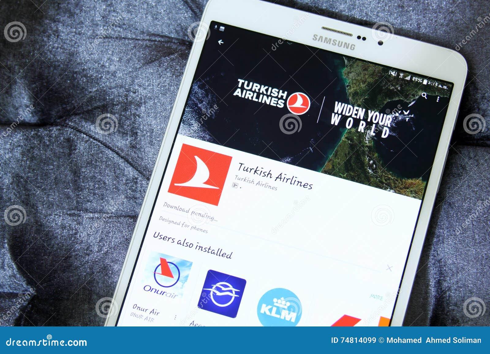 Logotipo de Turkish Airlines app en el juego de Google