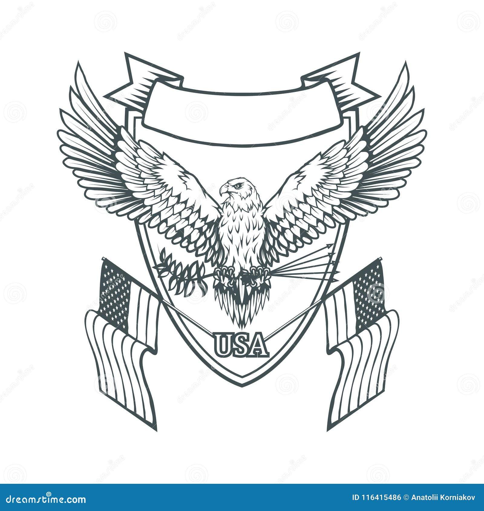 Logotipo Del águila Calva Dibujo Salvaje De Los Pájaros Cabeza De Un ...