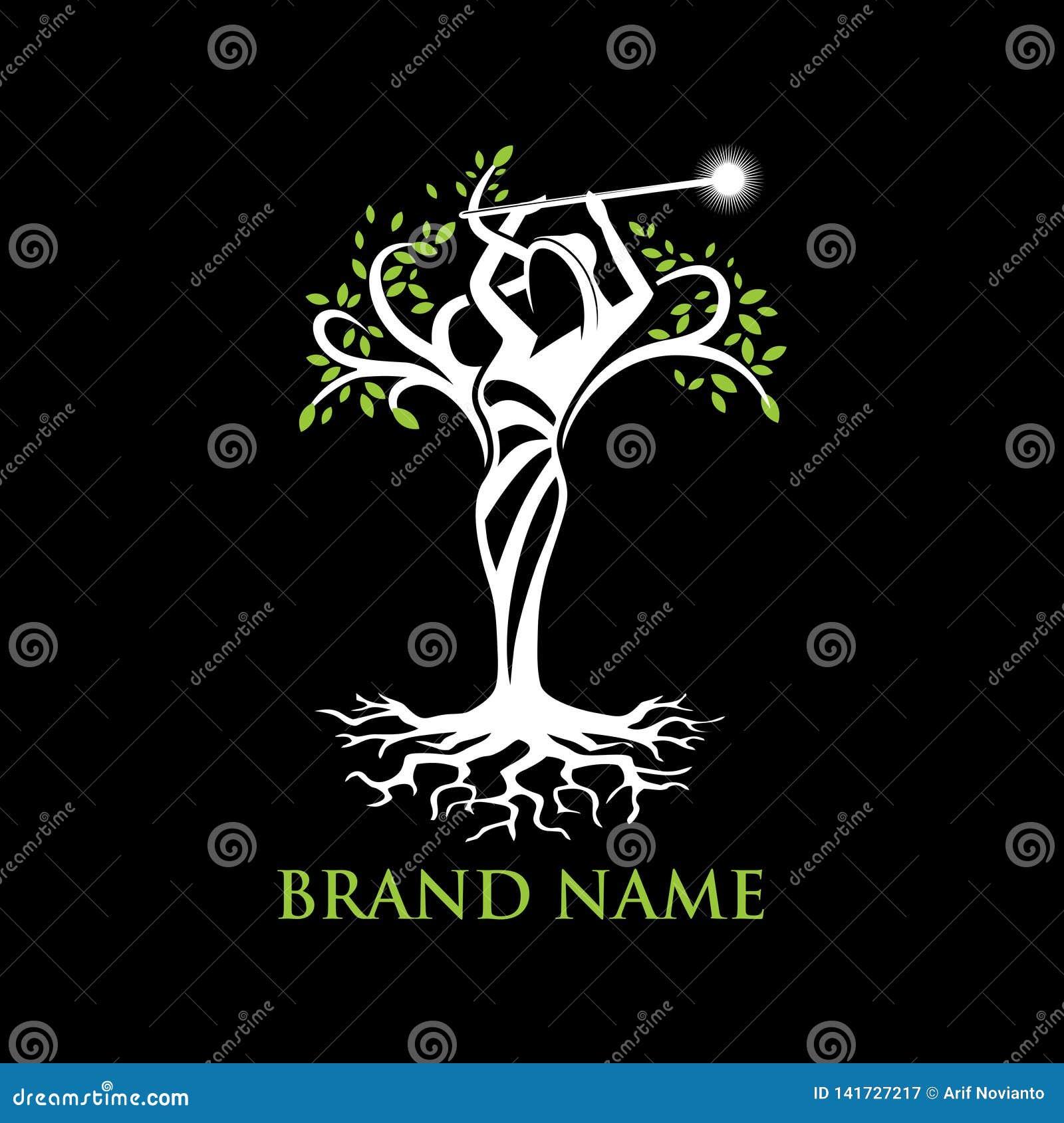 Logotipo del árbol del ángel