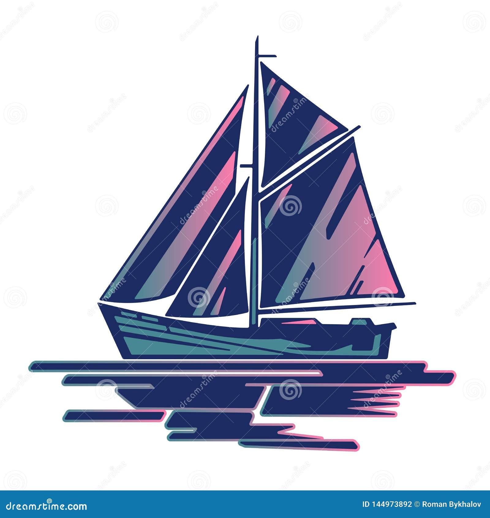 Logotipo del barco de navegaci?n