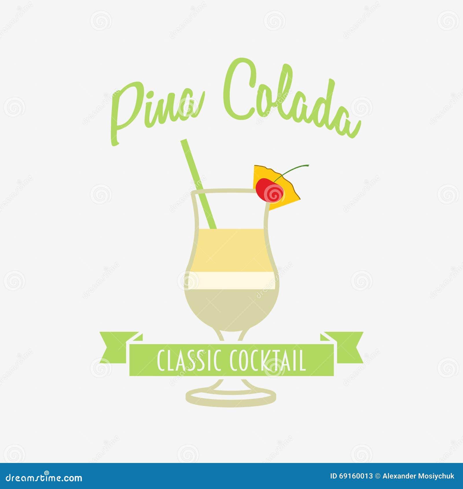 Logotipo Del Cóctel, Insignia O Plantilla Del Diseño De La Etiqueta ...