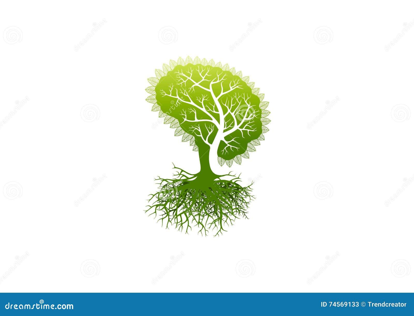 Logotipo del cerebro, icono del símbolo de Alzheimer, diseño de concepto sano de la psicología